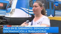 Paro tren Sarmiento
